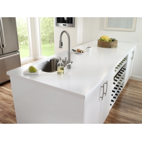 white pure acrylic solid surface